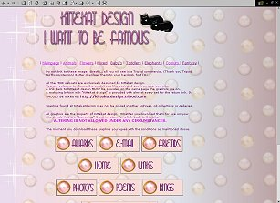 I want to be famous-webset. Girly with pearls